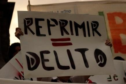 Pronunciamiento conta la represión y la criminalización de la protesta