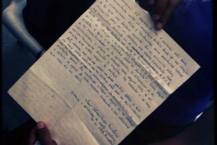 Carta de Iribar Ibinarriaga Ramírez, preso político
