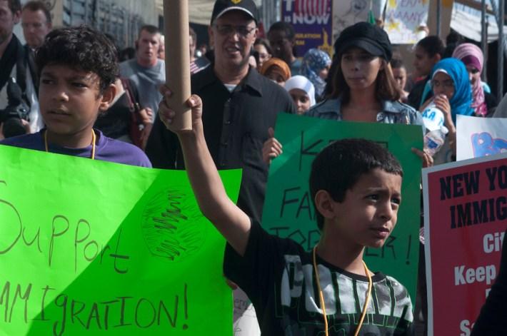Marcha migrante en NY / Foto: Sari Dennise