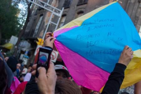 """""""Los maestros exigimos respeto al derecho de manifestación"""""""