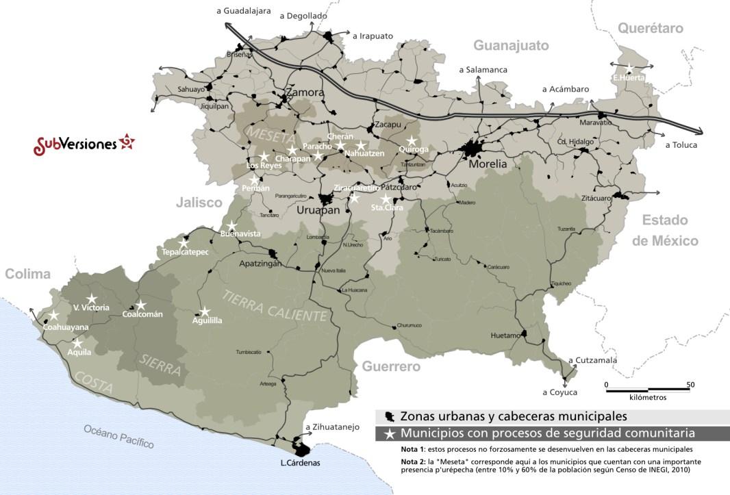 Autodefensas michoacanas a finales de 2013