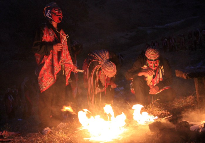 Los Cotlatlastin (Hombres del viento). Fotos: Arturo de Dios