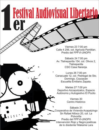 Cartel del Festival Audio Visual «Abajo los Muros»