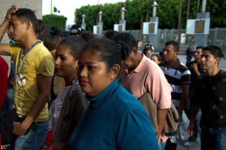 Caravana peregrinación migrante en la Basílica de Guadalupe. Foto: Amaranta Marentes