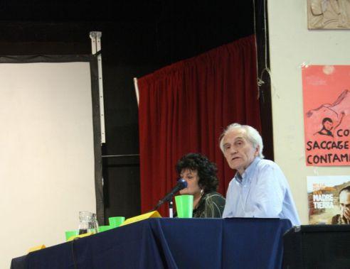 Gianni Tognoni (secretario general del TPP) y Nicole Kirouak (del Colegio de Abogados de Quebec, jurado del TPP).