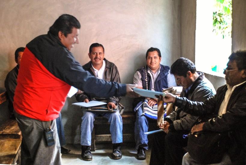 Reunión del Congreso Nacional Indígena en el marco de la Cátedra Tata Juan Chávez en agosto de 2013. Fotografía: Santiago Navarro F.