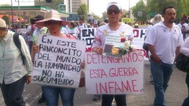 México se encuentra atravesado por la práctica criminal de la desaparición forzada y la responsabilidad del Estado está cada día más documentada. Tema del eje de Guerra Sucia. Fotografía: María González