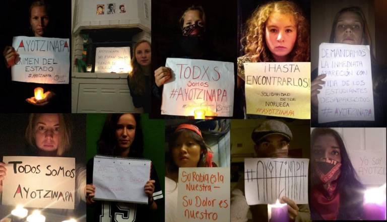 Acciones globales por Ayotzinapa