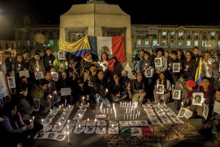 Solidaridad desde Bogotá, Colombia: ¡Vivos se los llevaron, vivos los queremos!