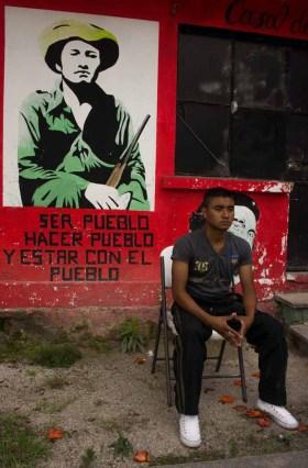 Uriel dando su testimonio. Fotografía: Cristian Leyva