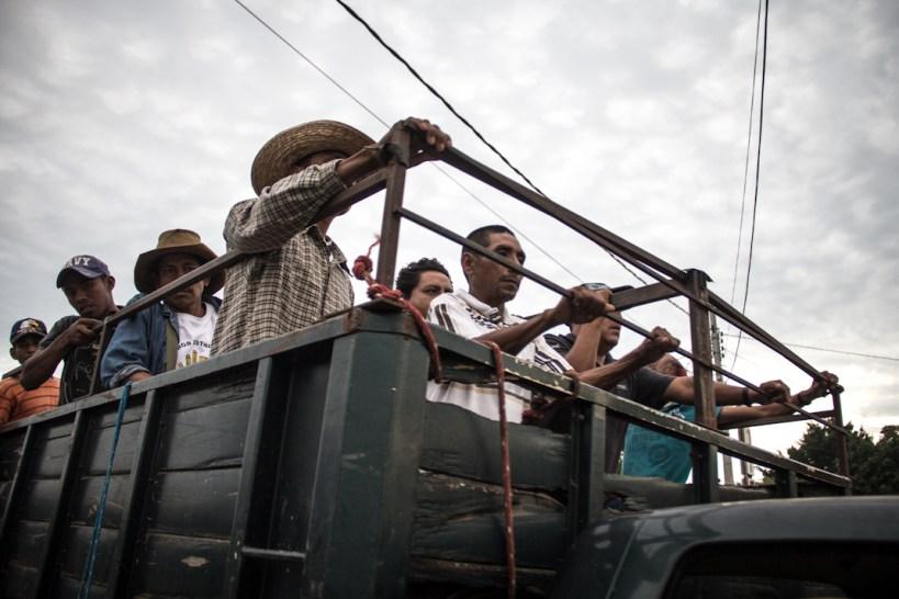 Campesinos en Iguala. Fotografía: Heriberto Paredes