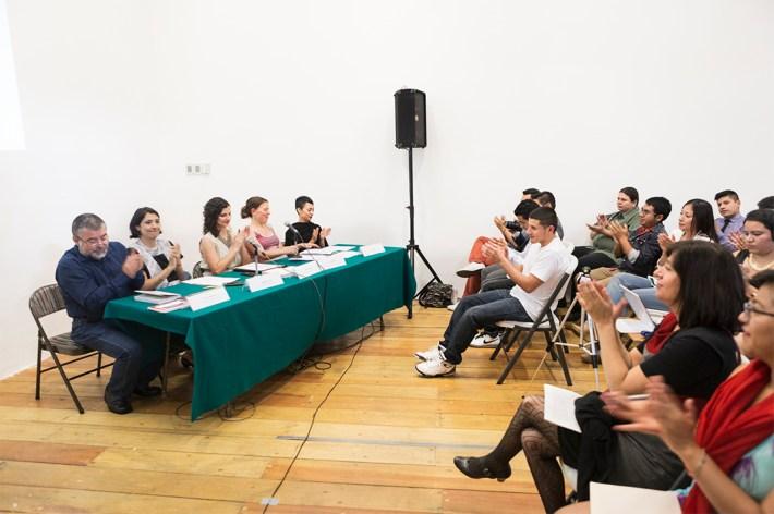 Izq. a derecha Carlos Heredia Zubieta, CIDE, Mercedes Caso, US-Mexico Foundation, Brissa Ceccon, Iniciativa Ciudadana, Dra. Jill anderon y la Fotógrafa Nin Solis, autoras del libro.
