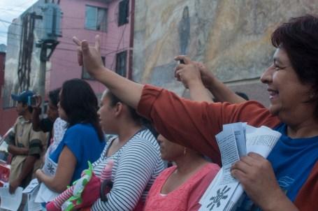 Mujeres y madres de familia en solidaridad con el movimiento.
