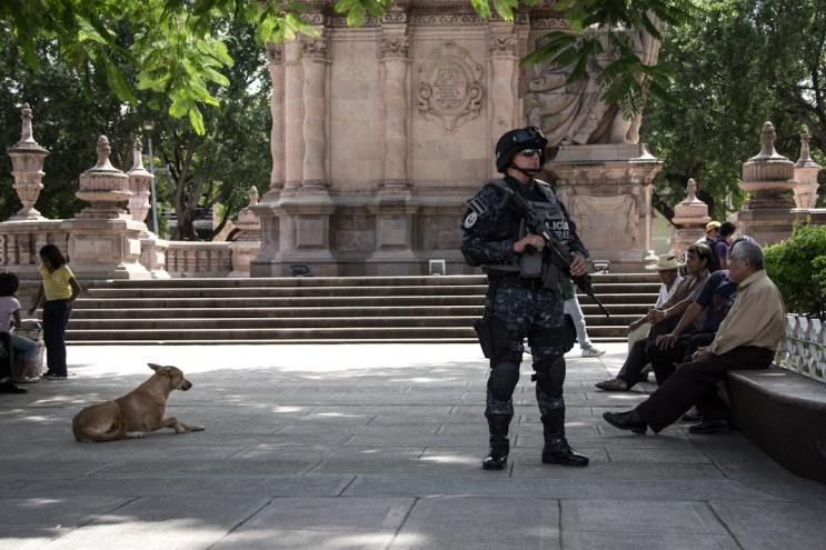La gendarmería en Iguala. Fotografía: Heriberto Paredes