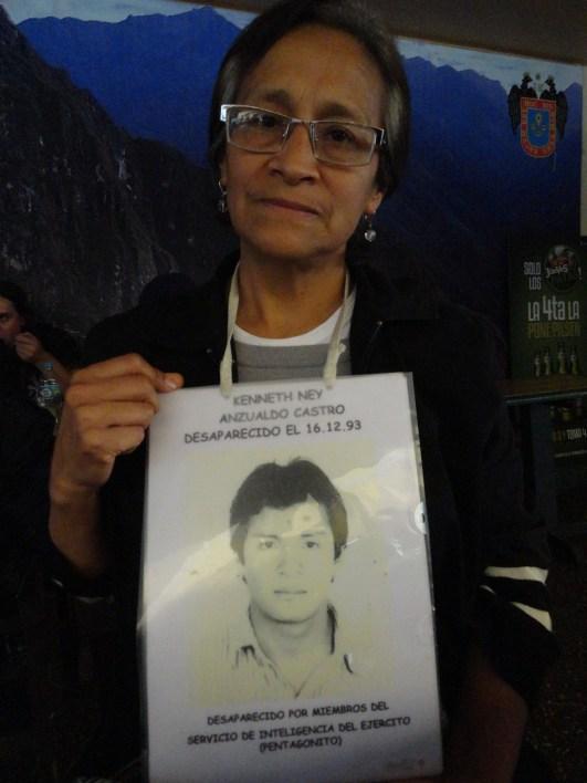 Marlyn Anzualdo Castro, hermana de Kenneth Anzualdo Castro quien fue desaparecido por la policia peruana en diciembre de 1993.