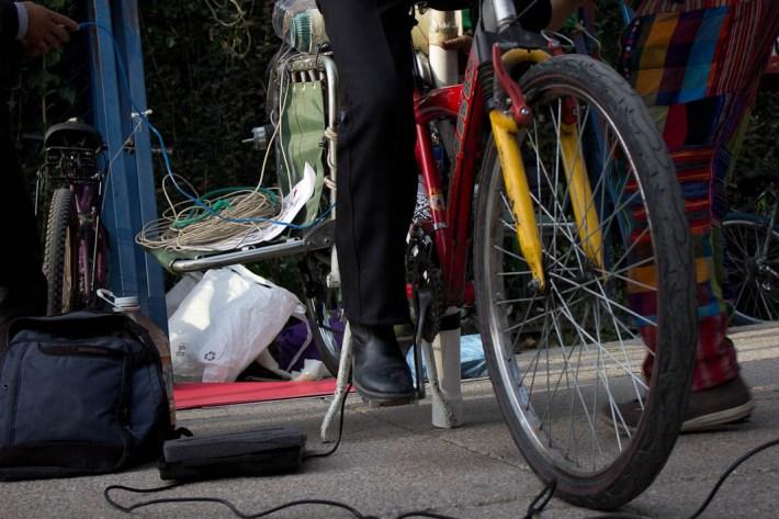 Bici-sonido. Fotografía: Xilonen Pérez