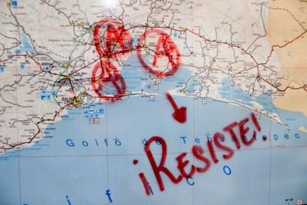 Protesta en la representación de Oaxaca en DF