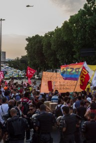 Vigilar y castigar. El presupuesto destinado a las fuerzas represivas se evidencian con el despliegue durante las protestas en las principales ciudades brasileñas. Foto: Aldo Santiago