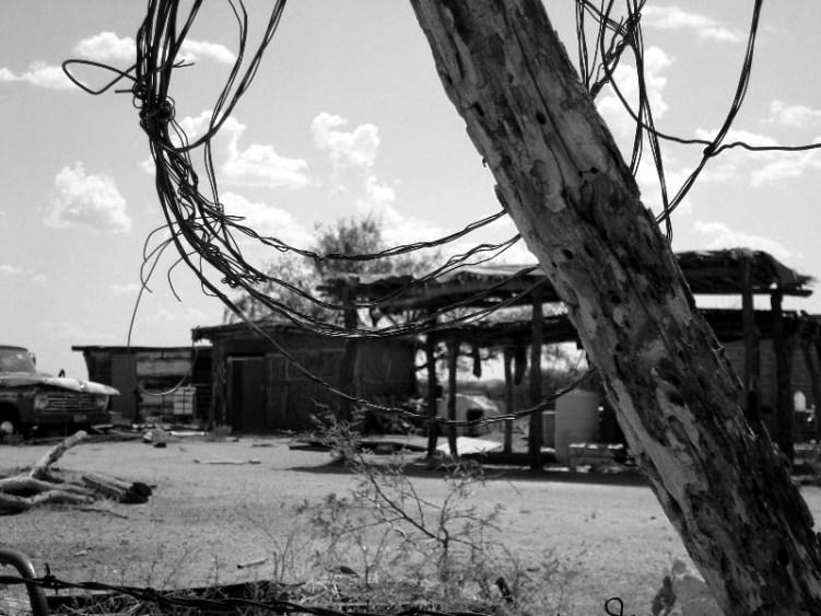 Vista de una casa en territorio odham. Fotografía: Guillermo Castillo