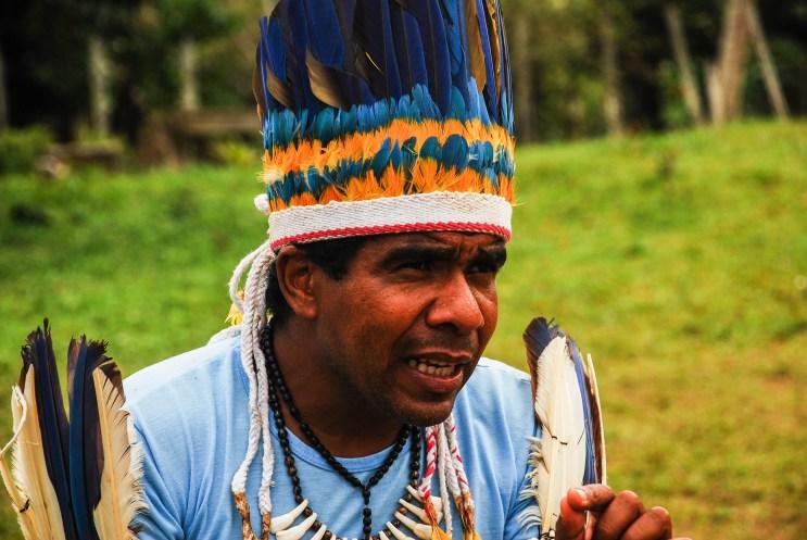 Babau Tupinambá, jefe la aldea de Sierra do Padeiro, en la región de la montaña. Fotografía: Santiago Navarro F.