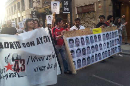 «Venimos a encontrar su palabra, a buscar su solidaridad y crear una plataforma internacional por Ayotzinapa»