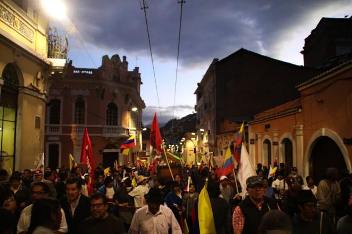Salida del Centro Histórico de Quito rumbo al Arbolito.