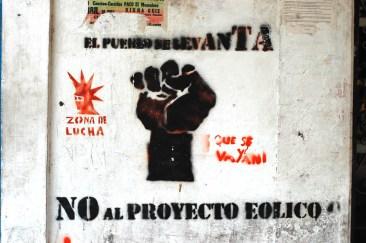 No al proyecto eólico, Juchitán. Fotografía: La Pirata