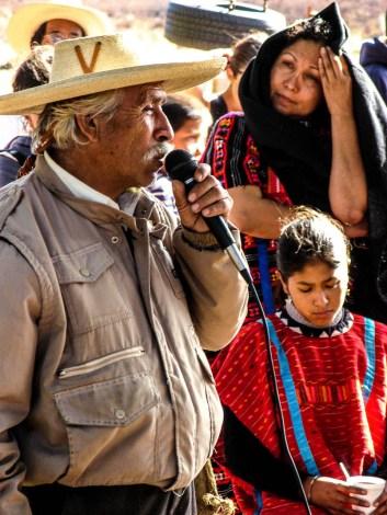 Tata Juan Chávez, luchador p'urhépecha. Fotografía: José Luis Santillán