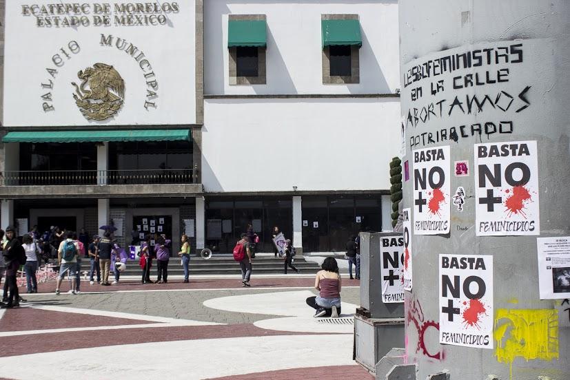 Plaza central de Ecatepec, Edomex, el municipio con más feminicios.