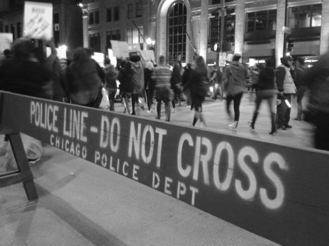 Protestas en Chicago, Illinois. Foto: Andrea Ene