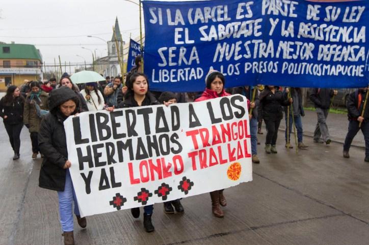 Movilización por presos caso Iglesias (foto Felipe Durán)