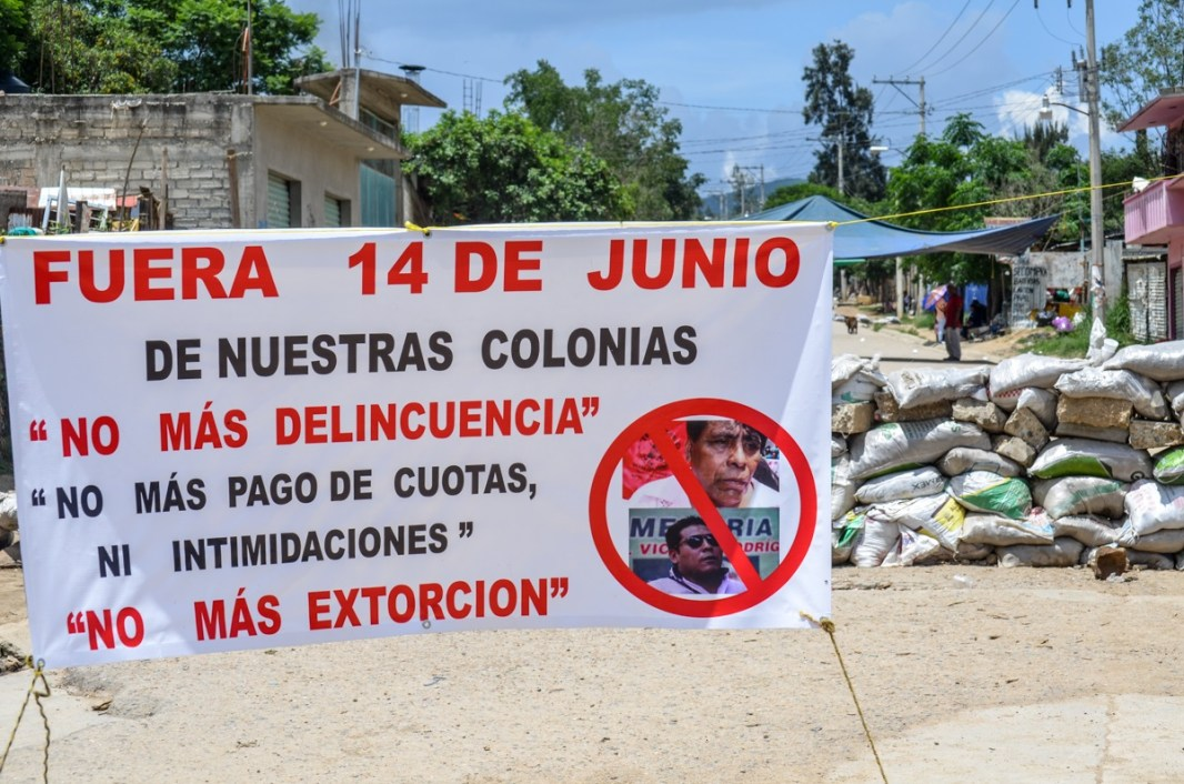 Mayo 2017. Levantamiento popular de 23 colonias. Mpio. de Zaachila, Oaxaca. Fotografía: José Luis Santillán