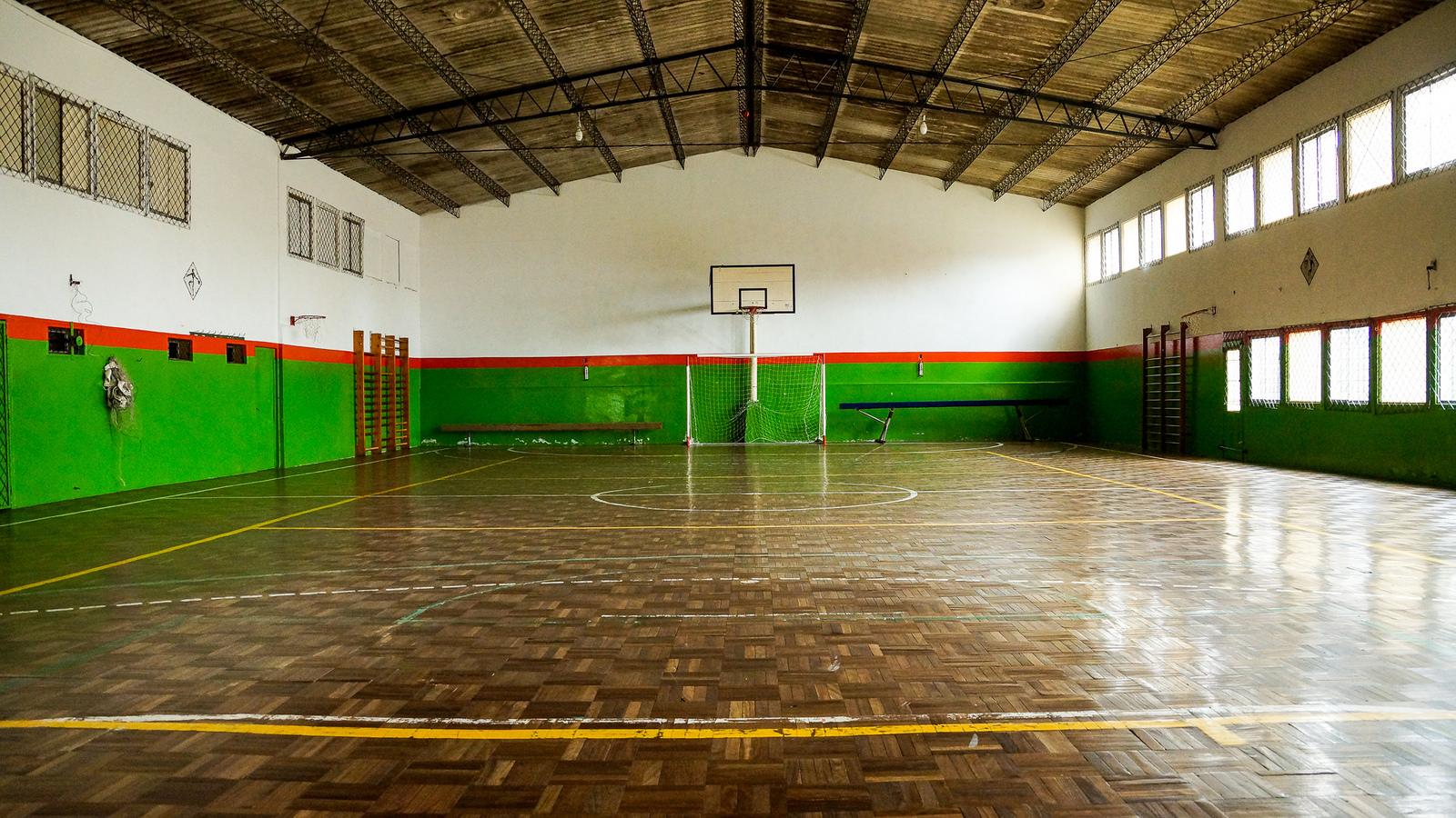 El gimnasio, en perfectas condiciones