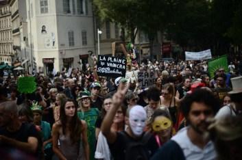 20 oct. 2018. La Plana contra La Soleam, día 10. Gran marcha por las ciudades vivas y populares.
