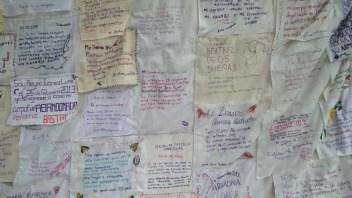 Muestra del trabajo de la Colectiva Bordamos Feminicidios.