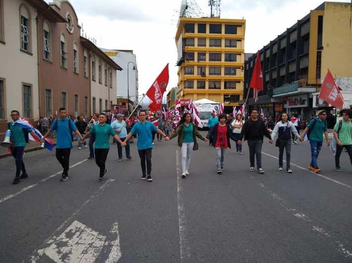 Manifestación en San José, 1 de julio