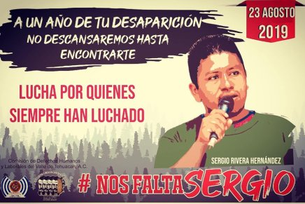 Justicia para Sergio Rivera a un año de su desaparición