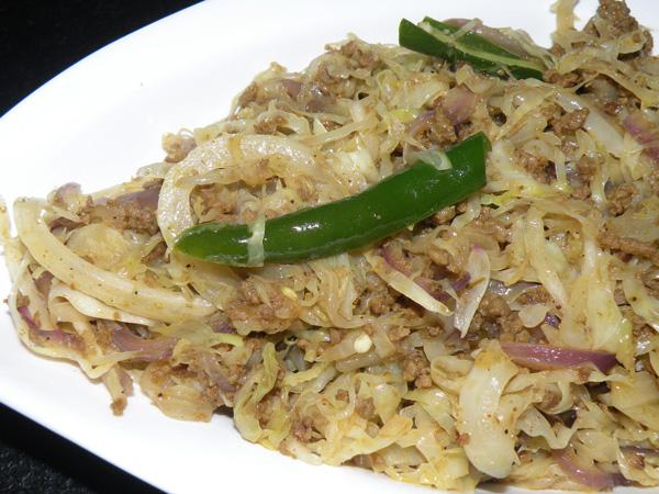 Cabbage-with-Keema-Masala