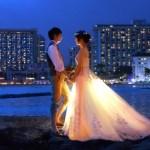 結婚式のウェディングドレス画像