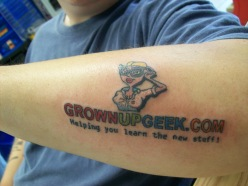 GrownUpGeek.com Tattoo