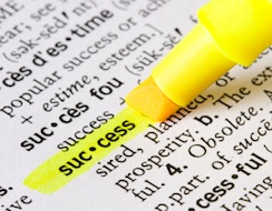 Image of the definition of the word success