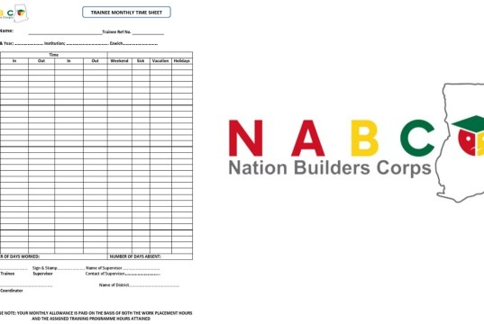 How to Fill The NABCO Trainees Career Pathway Transition Form