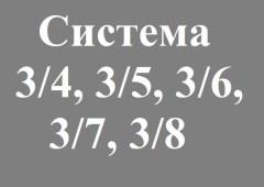 Что такое система 3/4, 3/5, 3/6, 3/7, 3/8? Как понять?