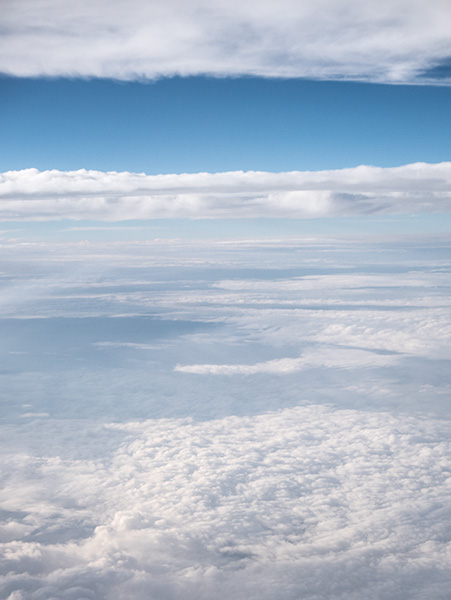 cloud vista from above