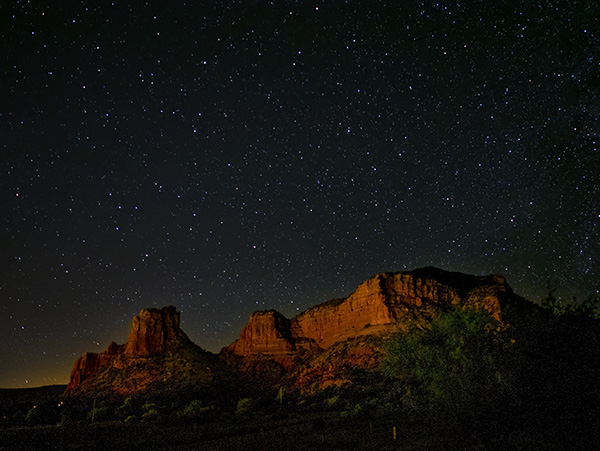 castle rock and stars image