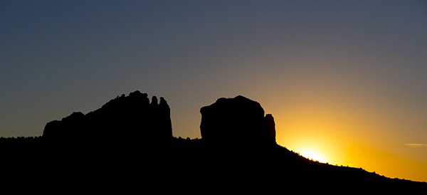 cathedral rock silhouette