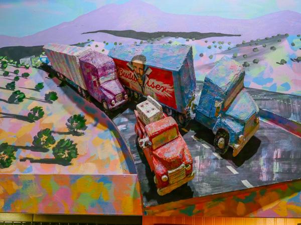 trucks from mural