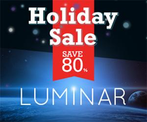 luminar software logo holiday slae
