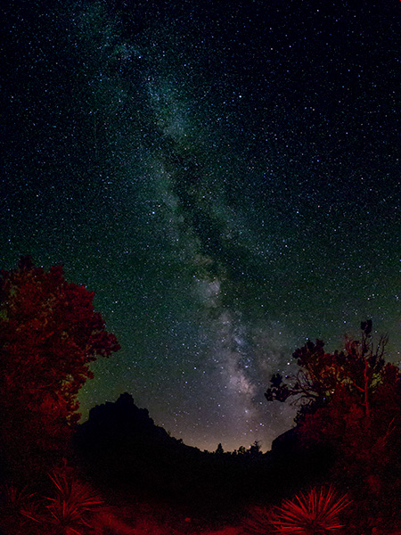 milky way sedona arizona photo