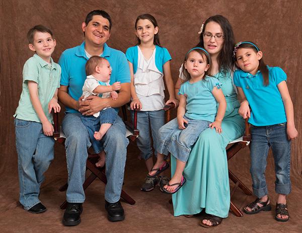 Family portrait beginning meltdown